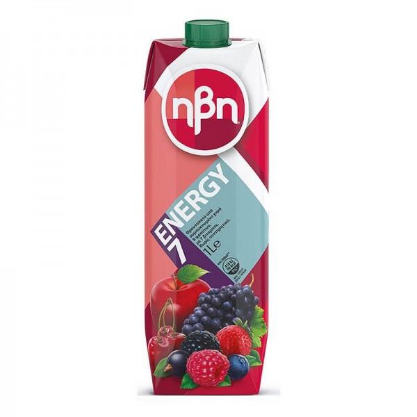 Φρουτοποτό Ηβη Energy 7 Red 1lt
