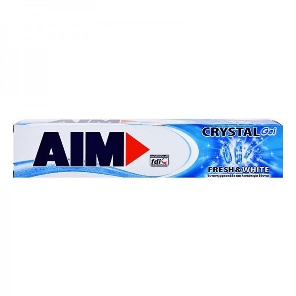 Οδοντόκρεμα crystal gel  Aim 75ml