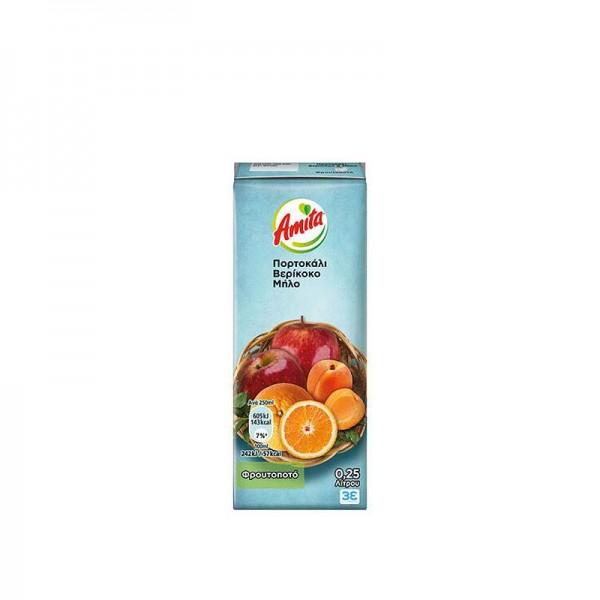 Φρουτοποτό Πορτοκάλι-Μήλο-Βερίκοκο...