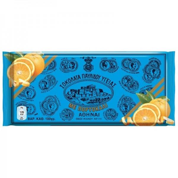Σοκολάτα υγείας πορτοκάλι Παυλίδης 100gr