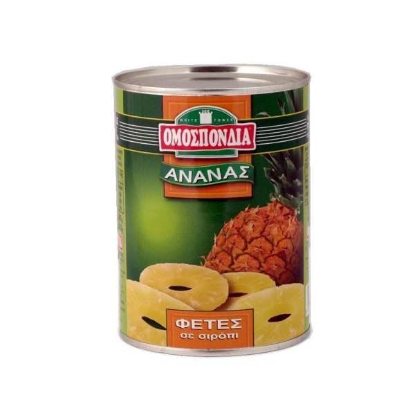 Κομπόστα ανανάς φέτες σε σιρόπι...