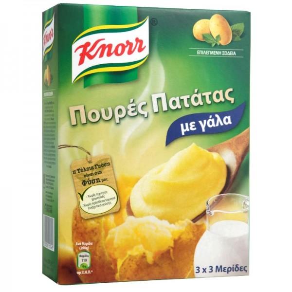 Πουρές πατάτας με γάλα Knorr 291gr