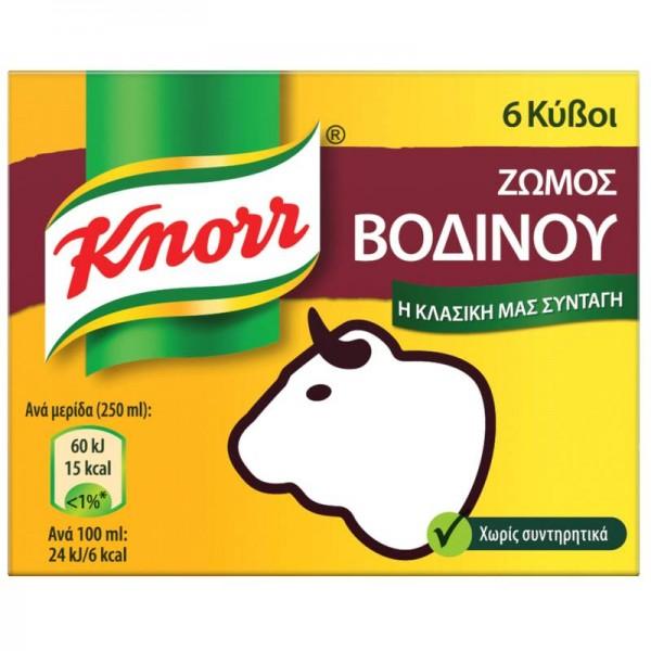 Κύβος βοδινό Knorr 6 τεμ.