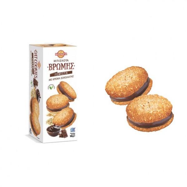 Μπισκότα Βρώμης γεμιστά με Σοκολάτα...
