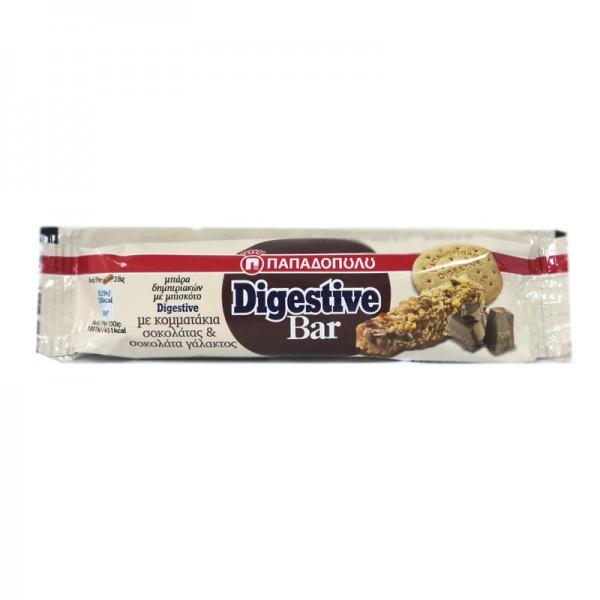 Digestive bar με κομματάκια σοκολάτας...